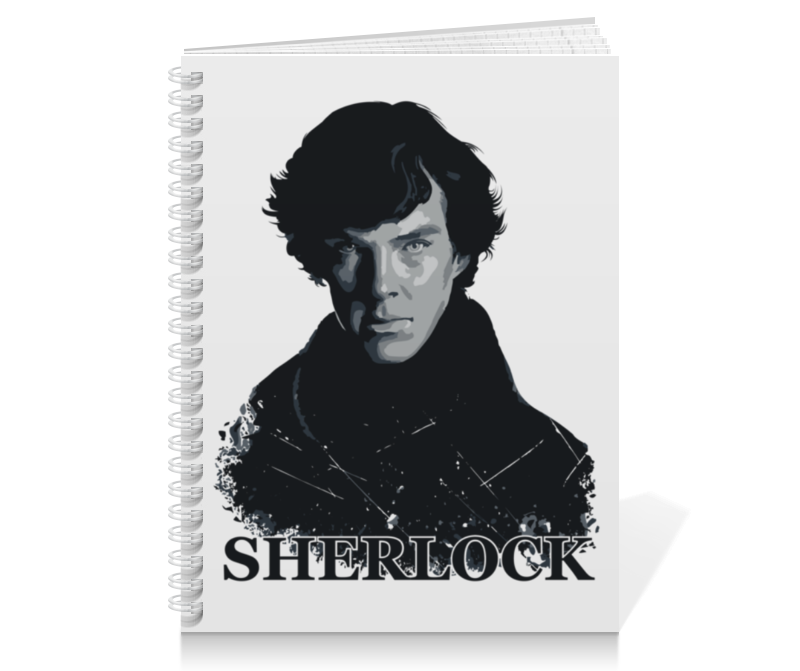 Тетрадь на пружине Printio Шерлок холмс (sherlock) лейн э молодой шерлок холмс черный лед