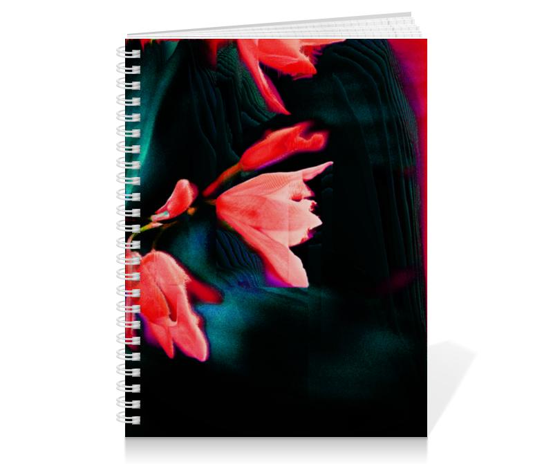 Тетрадь на пружине Printio Цветение ручка
