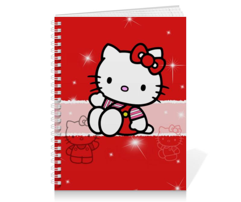 Тетрадь на пружине Printio Hello kitty с искрами тетрадь на пружине printio hello kitty с искрами