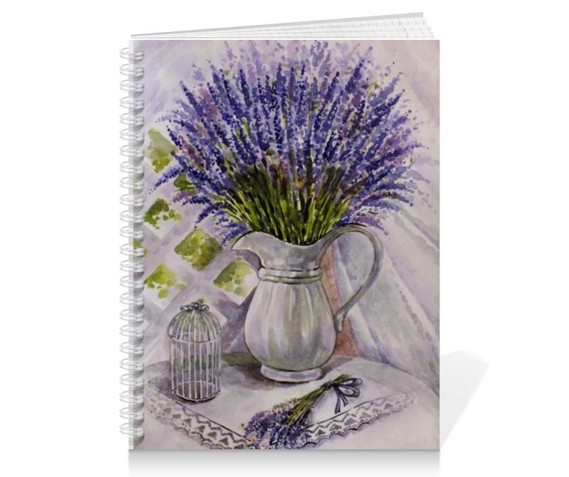 Тетрадь на пружине Printio лаванда на столе buenos ninos лаванда цветок номер м
