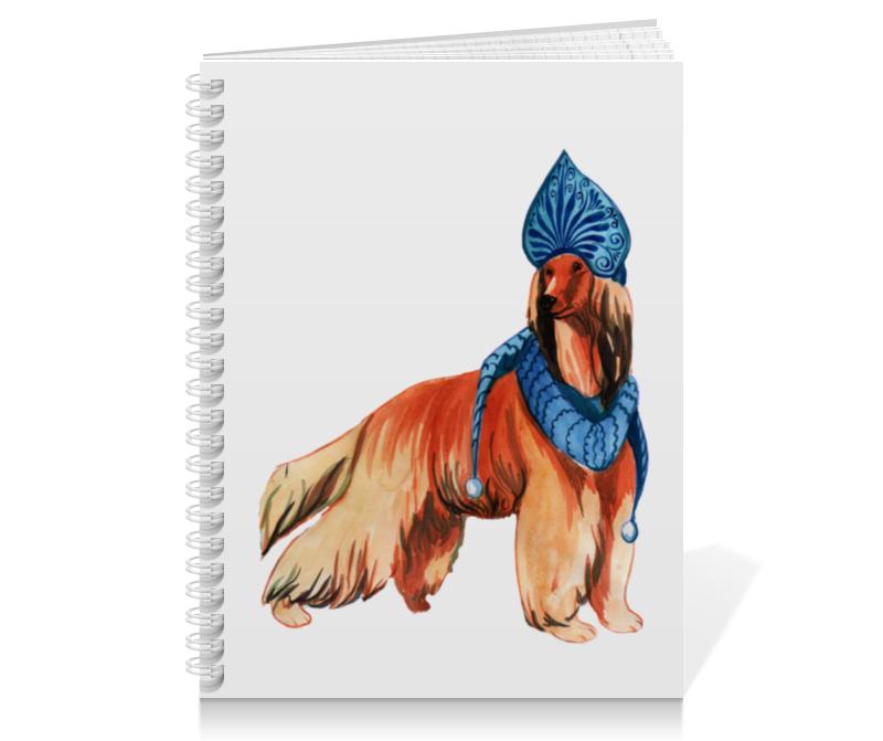 Тетрадь на пружине Printio Акварельная новогодняя собака скатерть квадратная printio акварельная новогодняя собака