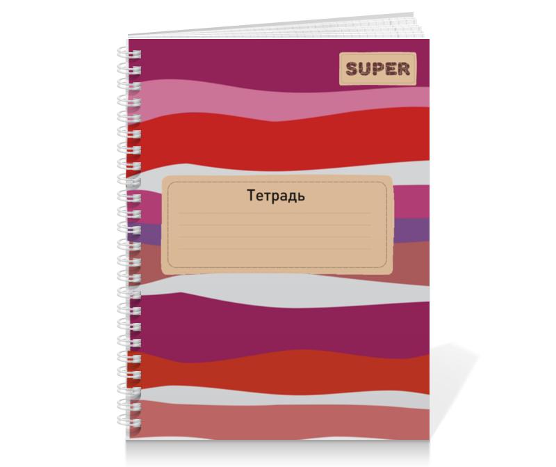Тетрадь на пружине Printio Красные волны тетрадь на пружине printio тетрадь аниме