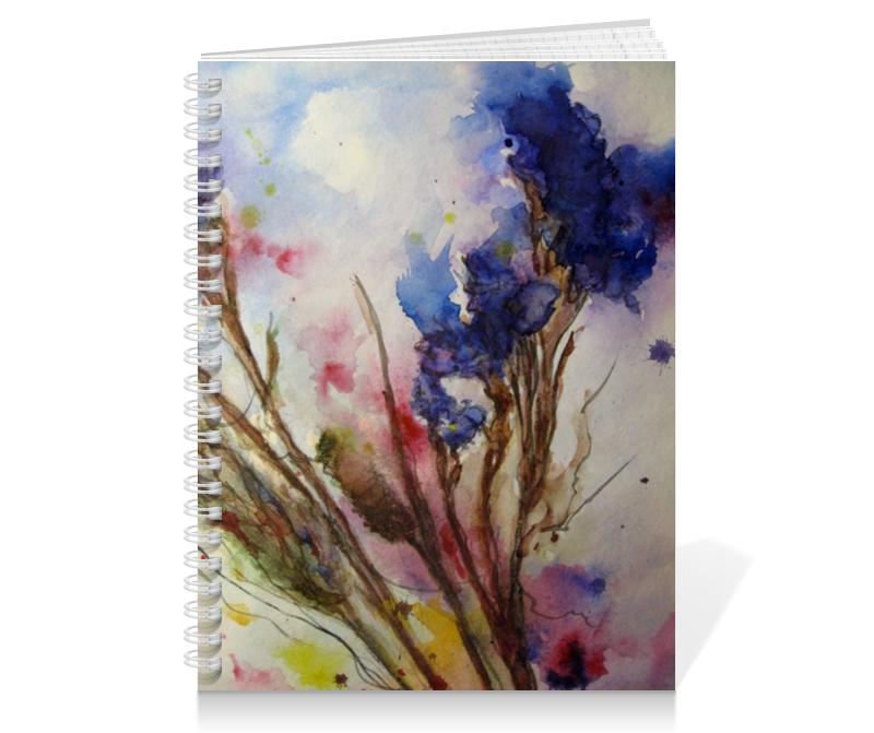 Тетрадь на пружине Printio Синие осенние цветы тетрадь на пружине printio осенние цветы