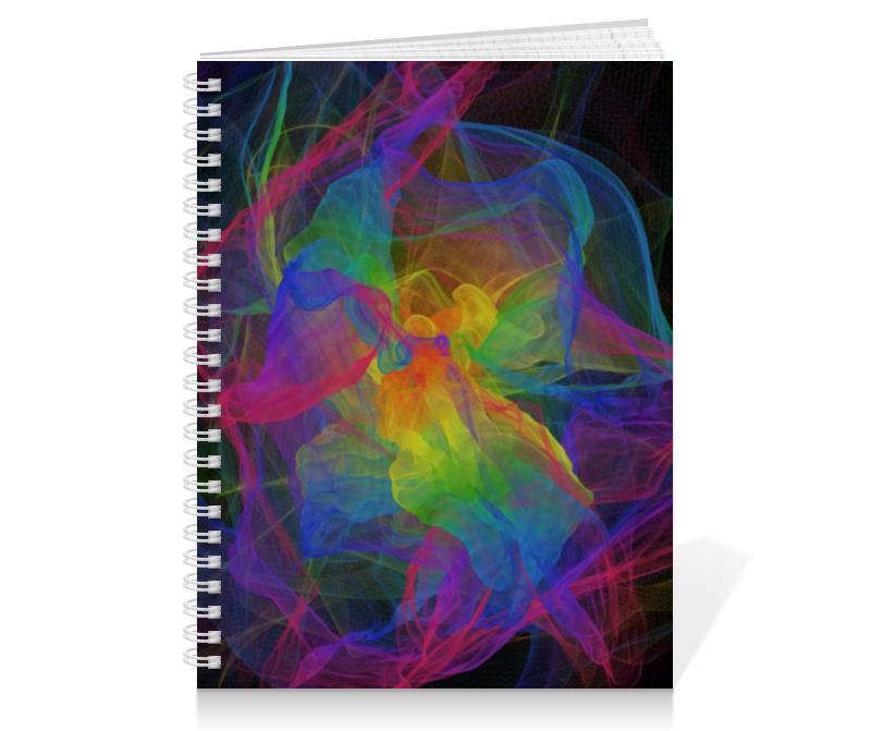 Тетрадь на пружине Printio Абстрактная радуга цена
