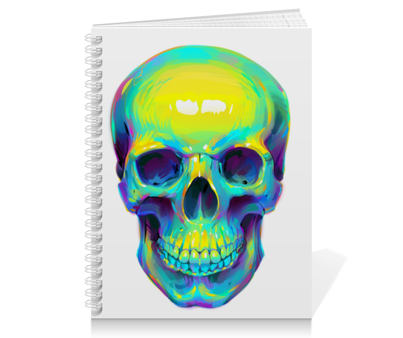 Тетрадь на пружине Printio Colorfull skull тетрадь на пружине printio low poly skull