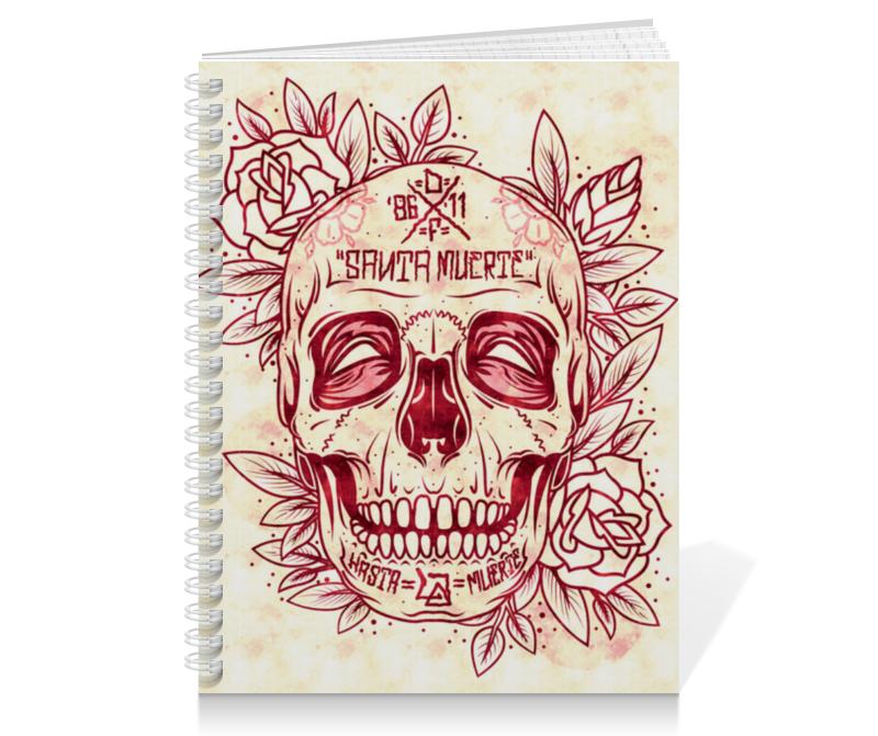 Тетрадь на пружине Printio Santa muerte skull цена