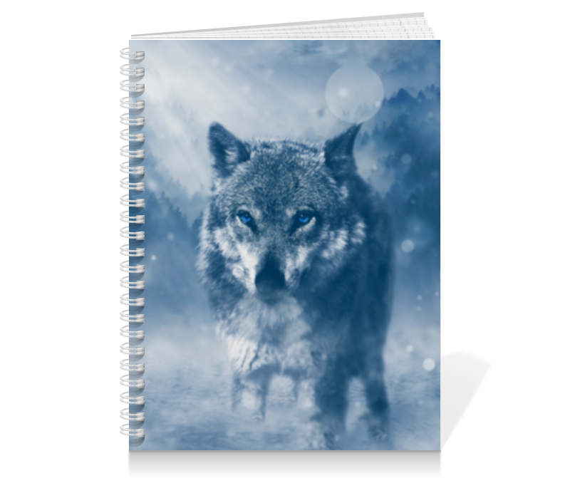 Тетрадь на пружине Printio Волк с голубыми глазами холст 20х30 printio волк с голубыми глазами