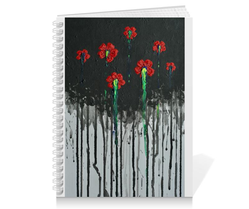 Тетрадь на пружине Printio Красные маки обложка для паспорта printio красные маки