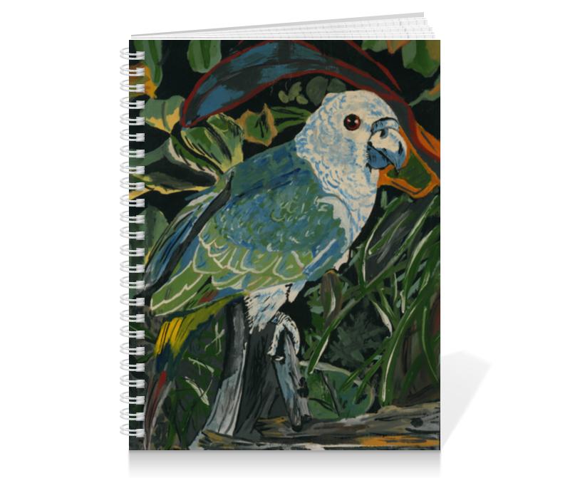 Тетрадь на пружине Printio Зеленый попугай брелоки aztek брелок попугай