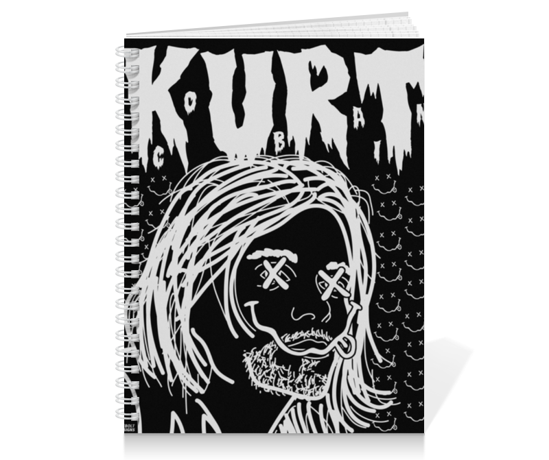 Тетрадь на пружине Printio Kurt cobain тетрадь на пружине printio тетрадь аниме