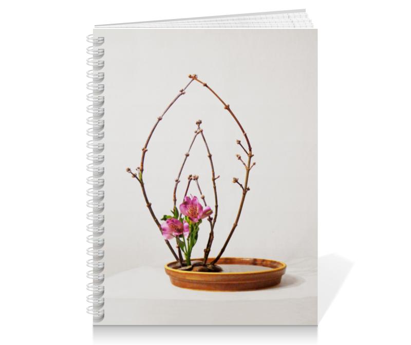 Тетрадь на пружине Printio Икебана / ikebana