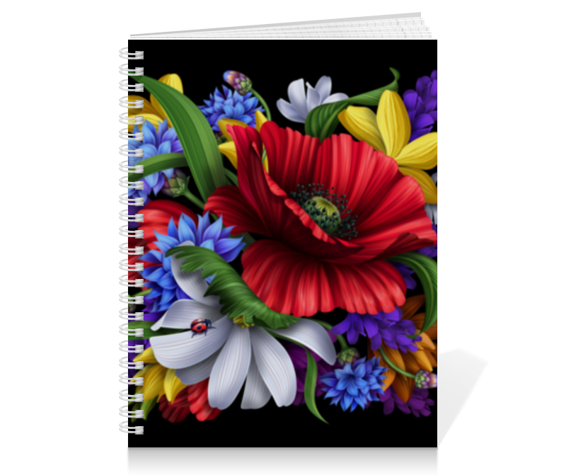 Тетрадь на пружине Printio Композиция цветов композиция из цветов и конфет