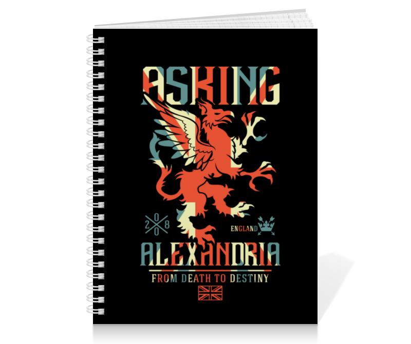 Тетрадь на пружине Printio Asking alexandria тетрадь на пружине printio asking alexandria