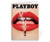 """Тетрадь на пружине """"Playboy Губы"""" - playboy, плейбой, плэйбой, губы, девушка"""