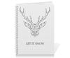 """Тетрадь на пружине """"Dear Deer"""" - рисунок, дизайн, олень, минимализм, рога"""