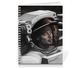 "Тетрадь на пружине ""SpaceX. Dragon"" - космос, вселенная, thespaceway, spacex, маск"