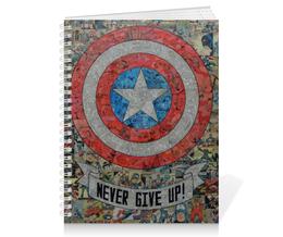 "Тетрадь на пружине ""Капитан Америка"" - комиксы, кэп, марвел, captain america"
