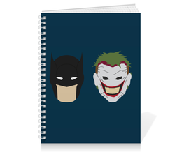 "Тетрадь на пружине ""Бэтмен и Джокер"" - джокер, бэтмен, комиксы, batman, joker"