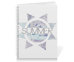 "Тетрадь на пружине ""Summer"" - арт, лето, график"
