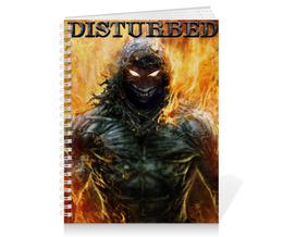 """Тетрадь на пружине """"Disturbed"""" - арт, огонь, disturbed"""