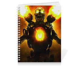 "Тетрадь на пружине ""Doom 4"" - doom, шутер, дум, выживший, revenant demon"