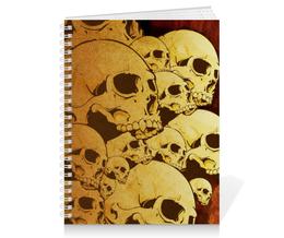 "Тетрадь на пружине ""Черепа"" - skull, череп, sticker, наклейка"
