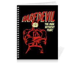 """Тетрадь на пружине """"Сорвиголова"""" - комиксы, супергерои, daredevil, сорвиголова"""
