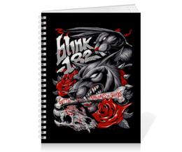 """Тетрадь на пружине """"Blink-182"""" - blink 182, blink182, блинк 182, панк, punk"""