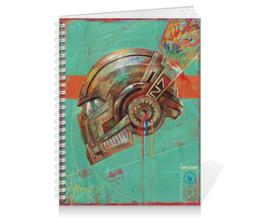 "Тетрадь на пружине ""Mass effect"" - арт, games, mass effect, n7, шлем"