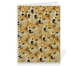 "Тетрадь на пружине ""DOGE DOGE"" - мем, dog, собака, meme, doge"