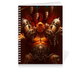 "Тетрадь на пружине ""WarCraft Collection"" - wow, dota, warcraft, дота, варкрафт"