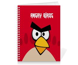"Тетрадь на пружине ""Angry Birds (Terence)"" - игры, детям, angry birds, компьютерная игра, terence"