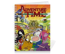 "Тетрадь на пружине ""Adventure time"" - джейк, фин, пупырка, adventure time, время приключений"