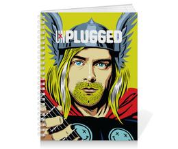 "Тетрадь на пружине ""Kurt Cobain"" - nirvana, rock, kurt cobain, курт кобейн, нирвана"