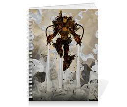 "Тетрадь на пружине ""Steampunk Iron Man"" - комиксы, марвел, стимпанк, железный человек, тони старк"