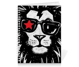 """Тетрадь на пружине """"Животные"""" - арт, животные, лев, дизайн, россия"""
