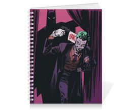 "Тетрадь на пружине ""Бэтмен"" - комиксы, batman, джокер, бэтмен, dc comics"