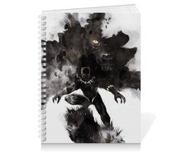 """Тетрадь на пружине """"Черная пантера"""" - комиксы, пантера, марвел, black panther"""