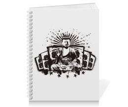 """Тетрадь на пружине """"Будда (Акустика)"""" - музыка, волны, будда, буддизм, акустика"""
