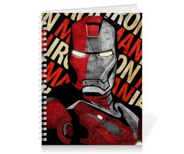 """Тетрадь на пружине """"Железный человек"""" - марвел, железный человек, iron man, tony stark, тони старк"""