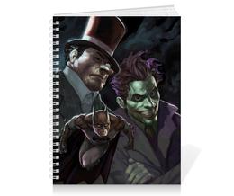 """Тетрадь на пружине """"Бэтмен"""" - комиксы, batman, джокер, пингвин, dc comics"""