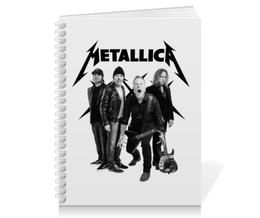 "Тетрадь на пружине ""Metallica"" - рок, metallica, группы, метал, металлика"