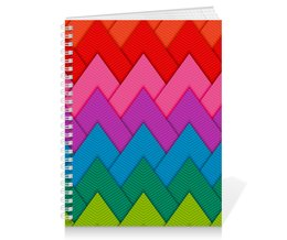 """Тетрадь на пружине """"Papercraft style"""" - полосы, абстракция, геометрия, линии, papercraft"""