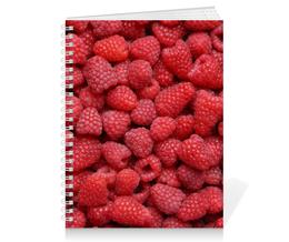 """Тетрадь на пружине """"Малина"""" - ягоды, малина, raspberry"""