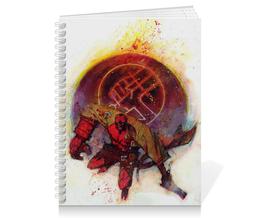 """Тетрадь на пружине """"Хеллбой"""" - комиксы, демон, hellboy, dark horse comics"""