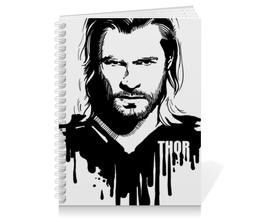 "Тетрадь на пружине ""Тор  "" - комиксы, мстители, avengers, марвел, thor"