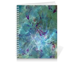 """Тетрадь на пружине """"Солнце,вода,цветы. Абстракция"""" - цветок, оригинальный, нежный, фантазийный, картина акварелью"""