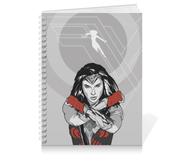 "Тетрадь на пружине ""Чудо-Женщина (Wonder Woman)"" - dc comics, чудо-женщина, justice league, лига справедливости"