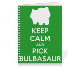 "Тетрадь на пружине ""Бульбазавр"" - нинтендо, nintendo, bulbasaur, pokemon go, покемон го"