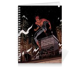 "Тетрадь на пружине ""Человек-паук (Spider-man)"" - комиксы, spider-man, марвел, человек-паук, питер паркер"